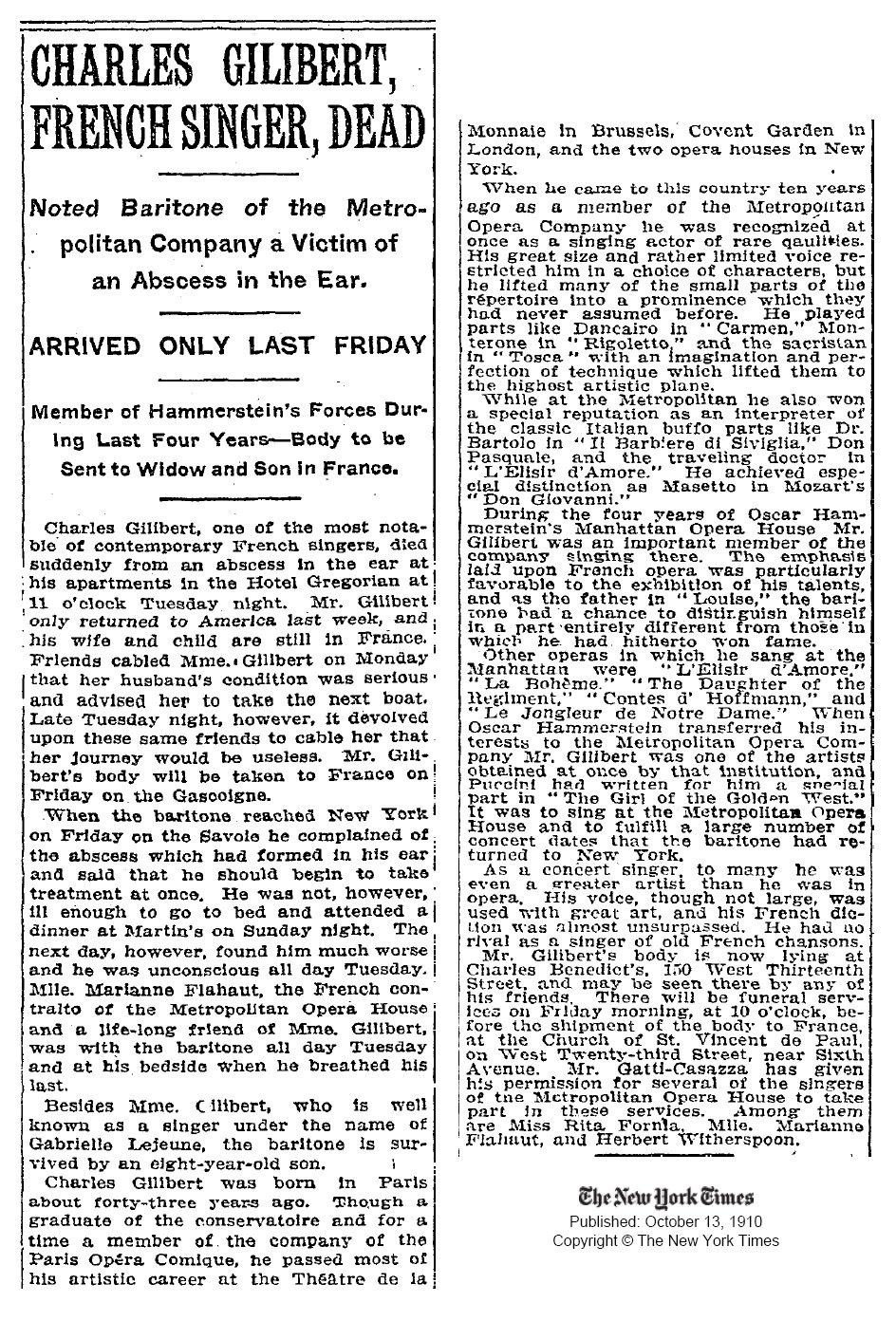 Massenet at the Chicago Opera 1910-1932
