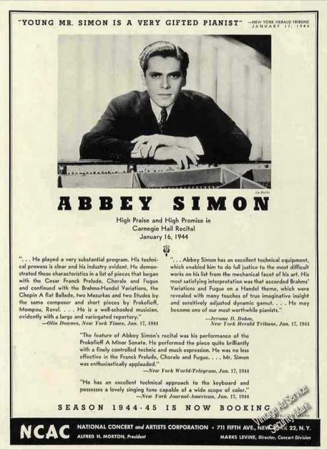 Abbey Simon Interview with Bruce Duffie